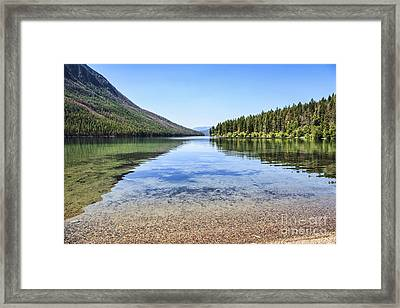 The Best Beach In Glacier National Park Framed Print by Scotts Scapes