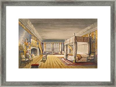 The Best Bedroom, Cotehele House Framed Print by English School