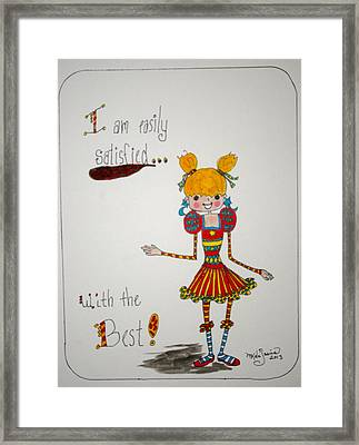 The Best Framed Print by Mary Kay De Jesus