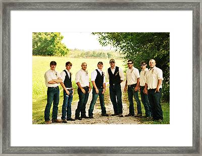 The Groom And His Best Men Framed Print by Chastity Hoff