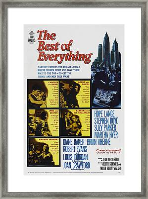 The Best Of Everything, Us Poster Art Framed Print by Everett