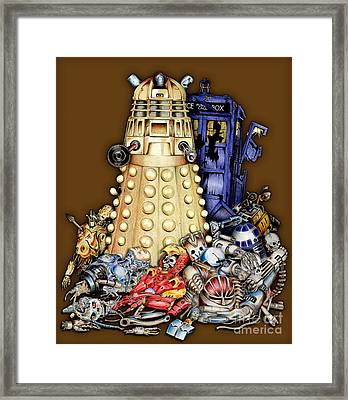 The Best Robot In The Universe Framed Print by Three Second