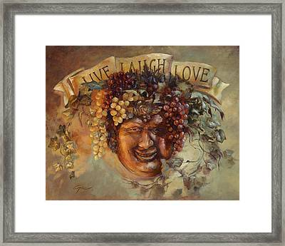 The Best Things In Life Framed Print by Gini Heywood