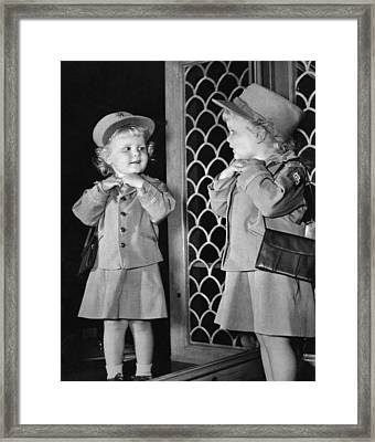 The Best War Bond Sales Girl Framed Print by Underwood Archives