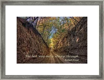 The Best Way Out Framed Print by Nikolyn McDonald