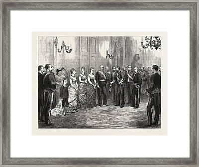 The Betrothal Of The King Of Spain The Kings Envoy Formally Framed Print