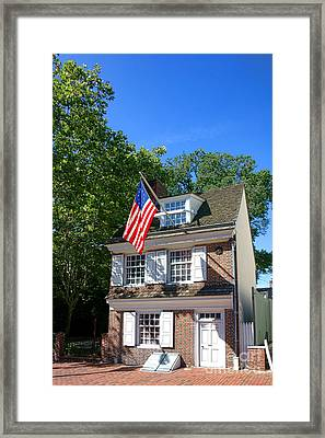 The Betsy Ross House Framed Print by Olivier Le Queinec