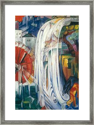 The Bewitched Mill Framed Print by Franz Marc