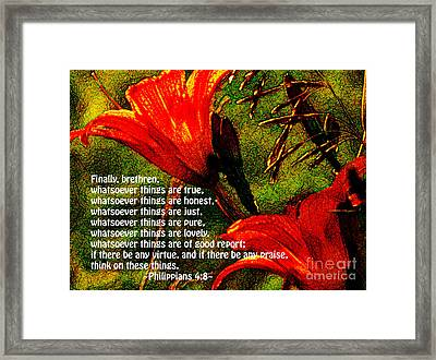 The Bible Philippians 4 Framed Print