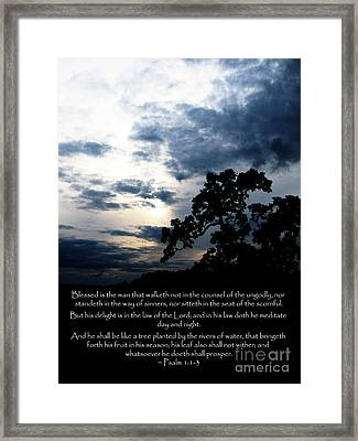The Bible Psalm 1 Framed Print