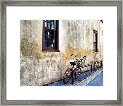 The Bicycle Framed Print by Deborah Benoit