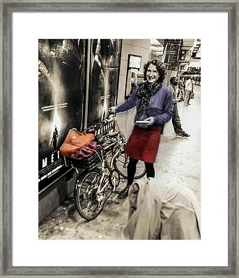 The Bicycle Girl Framed Print by Ross Henton