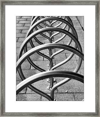 The Bicycle Rack Framed Print by Geraldine Alexander