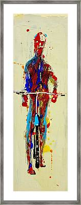 The Bicyclist Framed Print by Jean Cormier