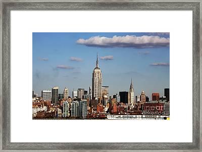 The Big Apple Framed Print by John Rizzuto