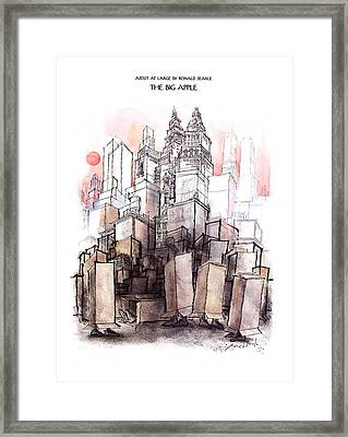 The Big Apple Framed Print by Ronald Searle