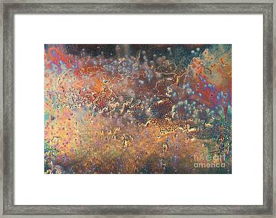 The Big Bang Abstract Framed Print by Lee Craig