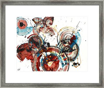 Framed Print featuring the painting The Big Bang by Kris Haas