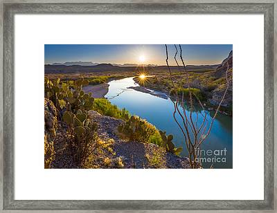 The Big Bend Framed Print by Inge Johnsson