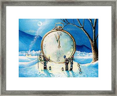 The Big Countdown Framed Print by Shana Rowe Jackson