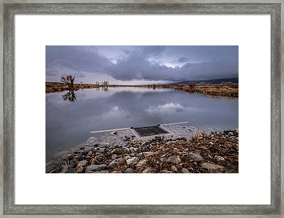 The Big Drain Framed Print