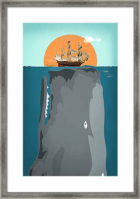 The Big Fish Framed Print by Mark Ashkenazi