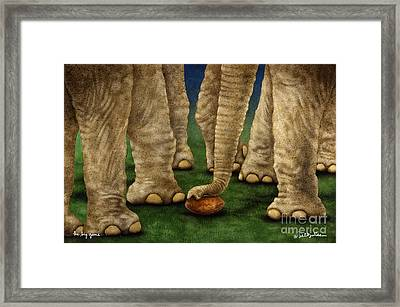 The Big Game... Framed Print by Will Bullas