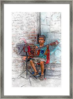 The Big Guitar Framed Print by John Haldane