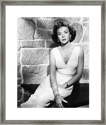 The Big Knife, Ida Lupino, 1955 Framed Print