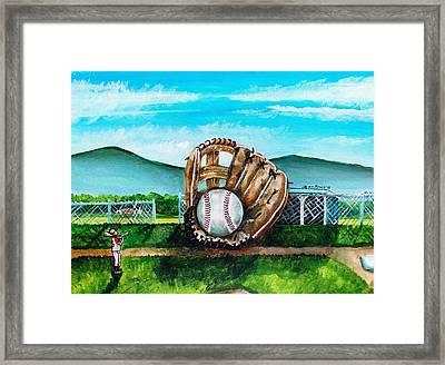 The Big Leagues Framed Print by Shana Rowe Jackson