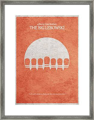 The Big Lebowski Framed Print by Ayse Deniz