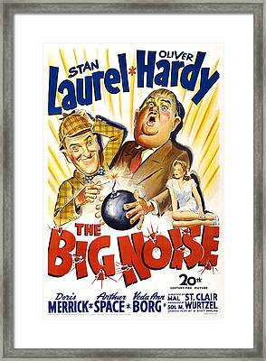 The Big Noise, Us Poster, From Left Framed Print by Everett