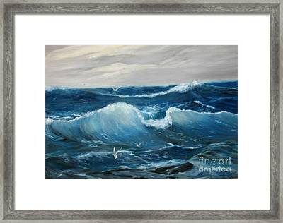 The Big Ocean Framed Print