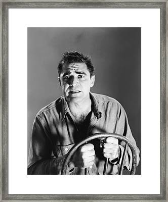 The Big Operator, Steve Cochran, 1959 Framed Print