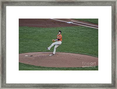 The Big Pitcher Framed Print by Judy Wolinsky