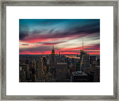 The Big Red Apple Framed Print