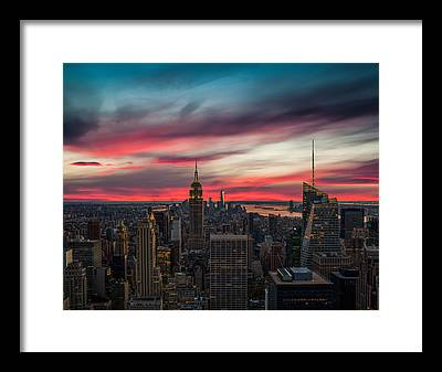 New York City Skyline Framed Prints