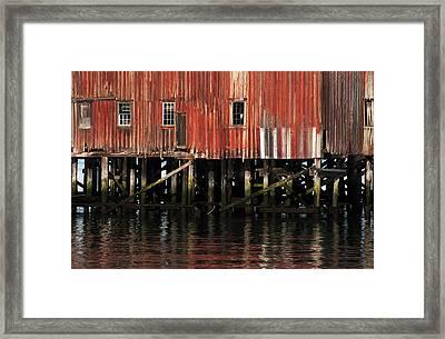 The Big Red Net Shed  Astoria, Oregon Framed Print
