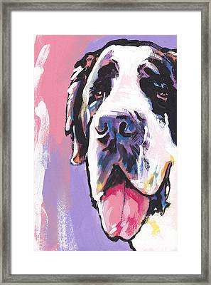 The Big Saint Framed Print by Lea S