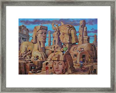The Big Sand Box Framed Print by Henry David Potwin