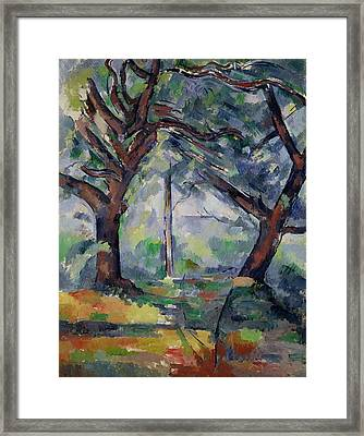 The Big Trees Framed Print by Paul Cezanne