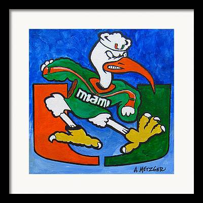 University Of Miami Paintings Framed Prints