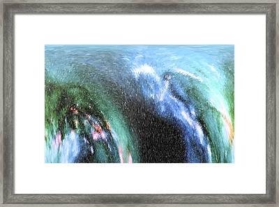 The Big Wave Framed Print by Mariarosa Rockefeller