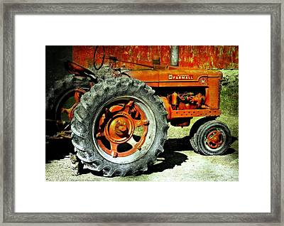 The Big Wheel Framed Print