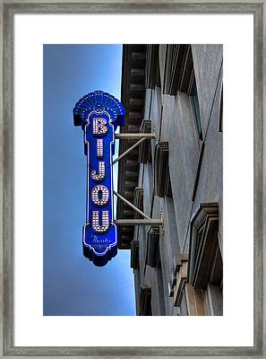 The Bijou Theatre - Knoxville Tennessee Framed Print
