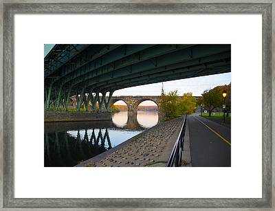 The Bike Path Along The Schuylkill River Framed Print by Bill Cannon