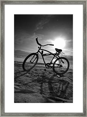The Bike Framed Print by Peter Tellone