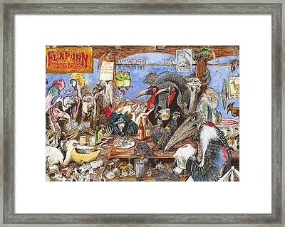 The Bird Bar Framed Print by Rose Rigden