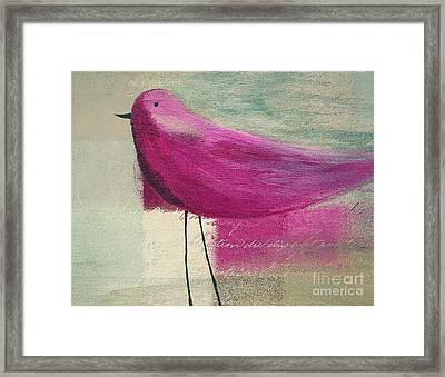 The Bird - J100124164-c15a Framed Print by Variance Collections