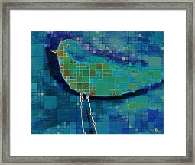 The Bird - Mdsa03bll Framed Print by Variance Collections